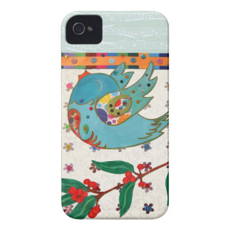 Cute bird flying and singing iPhone 4 cases