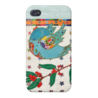 Cute bird flying and singing covers for iPhone 4