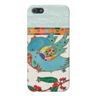 Cute bird flying and singing iPhone 5 covers