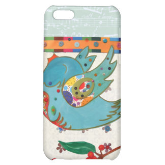 Cute bird flying and singing iPhone 5C covers