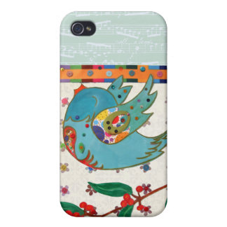 Cute bird flying and singing iPhone 4 cover