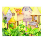 Cute Bird House Moving Announcements Postcards