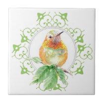 Cute Bird, Hummingbird, Nature, Garden Wildlife, Tile