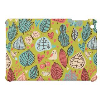 Cute Bird/Leaf Pattern Case For The iPad Mini