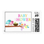 Cute Bird Nest Baby Shower Thank You Postage Stamp