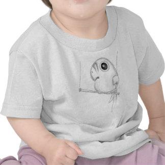 Cute Bird on Swing Tee Shirts