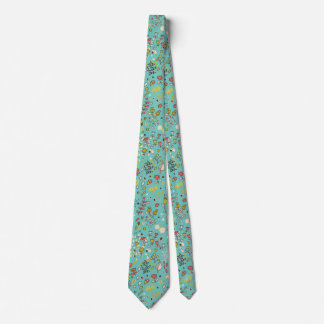 Cute Bird Pattern Five Neck Tie
