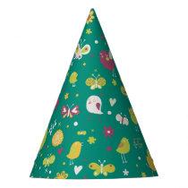 Cute Bird Pattern Three Party Hat