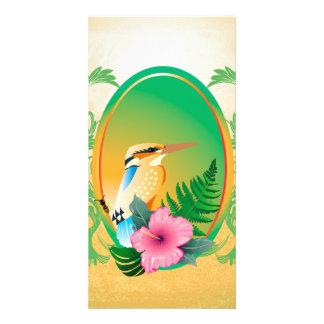 Cute bird custom photo card