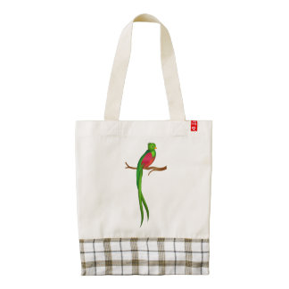 Cute bird Quetzal Zazzle HEART Tote Bag