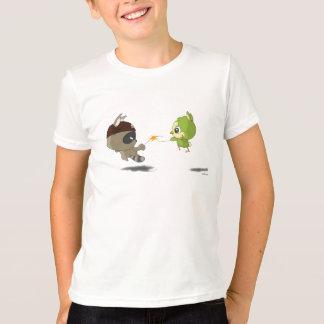 Cute bird raccoon funny cartoon character T-shirt