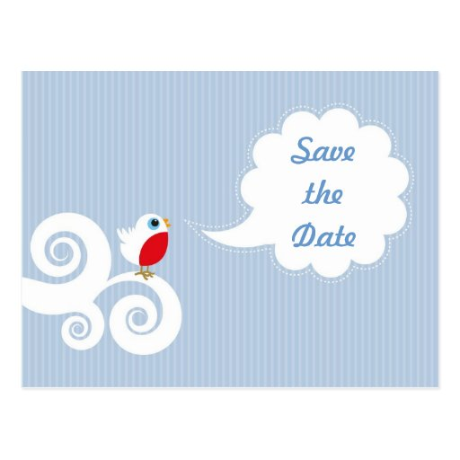 Cute bird Save the Date postcard