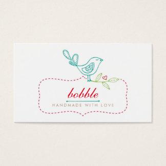Cute Bird Sewing Handmade Business Card