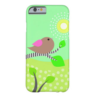 Cute Bird & Sun Barely There iPhone 6 Case