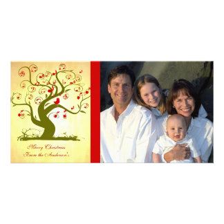 Cute Bird Swirl Tree Gifts and Invitations Photo Card