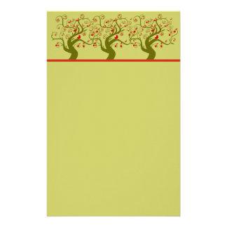 Cute Bird Swirl Tree Gifts and Invitations Stationery