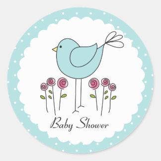 bird themed baby shower stickers zazzle