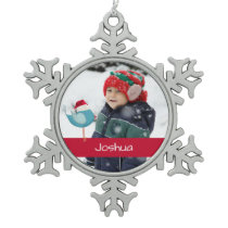 cute bird with santa hat photo template ornament