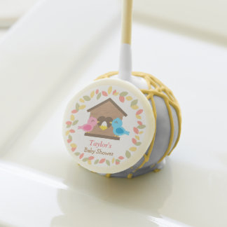 Cute Birdhouse Wreath Bird Baby Shower Party Treat Cake Pops