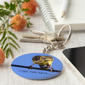 Cute Birdie Basic Button Keychain