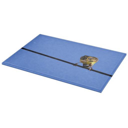 Cute birdie decorative glass cutting board zazzle - Decorative tempered glass cutting boards ...