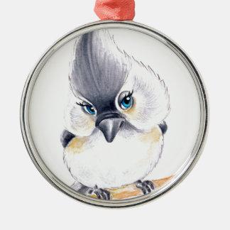 Cute birdie metal ornament
