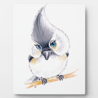 Cute birdie plaque