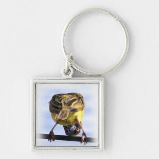 Cute Birdie Square Keychain