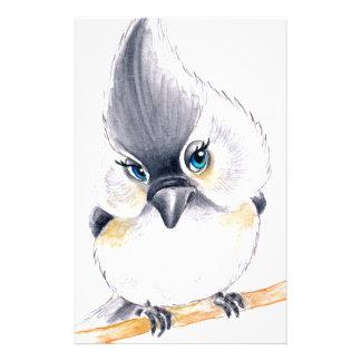 Cute birdie stationery