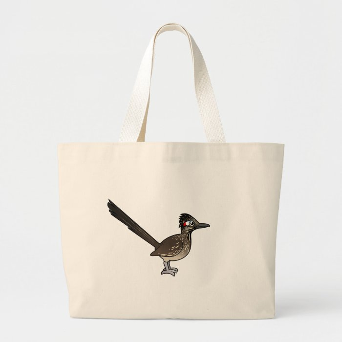 Cute Birdorable Roadrunner Large Tote Bag