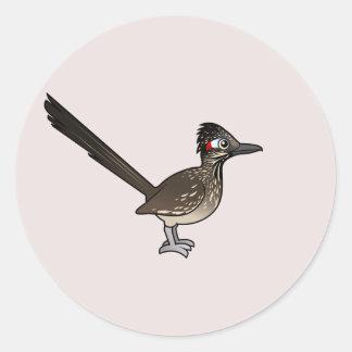 Cute Birdorable Roadrunner Round Stickers