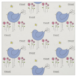 Cute Birds and Bees Fabric
