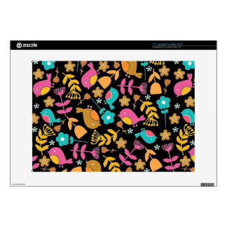 Cute Birds and Flowers Floral Laptop Skin