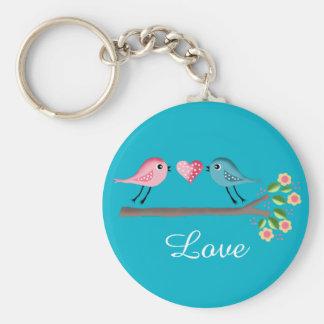 cute birds baby llavero redondo tipo pin