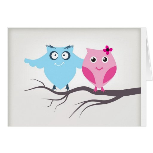 Cute birds couple in love card
