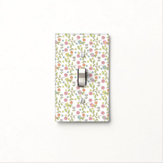 Cute birds floral illustration pattern light switch cover