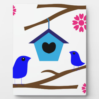 cute birds love nest peace joy photo plaque