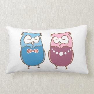 Cute birds lumbar pillow