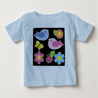 Cute Birds 'n Flowers Baby T-Shirt