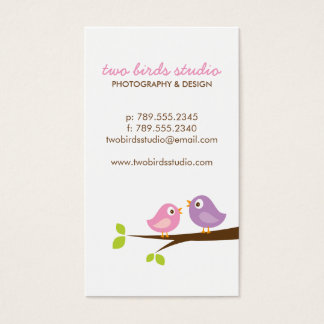 Cute Birds on a Branch Business Card