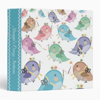 cute birds seamstress sewing notions notebook binder