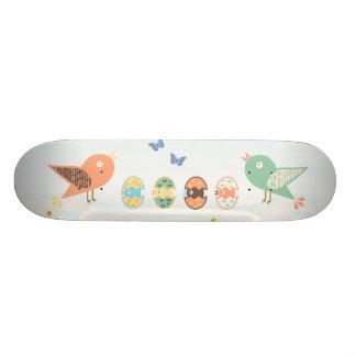 Cute birds skateboard deck