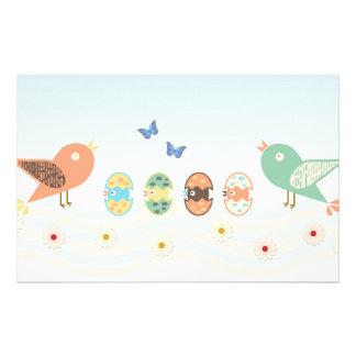 Cute birds stationery