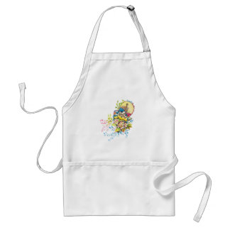 Cute Birds Vintage Illustration Adult Apron