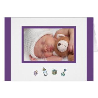 Cute Birth Announcement Photo Card