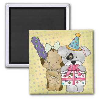 Cute Birthday 2 Inch Square Magnet