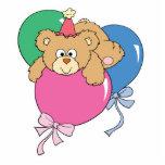 Cute Birthday Balloon Bear Photo Sculpture