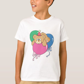 Cute Birthday Balloon Bear T-Shirt