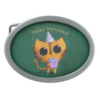 Cute Birthday Cat Belt Buckles