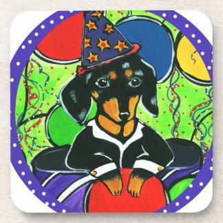 Cute Birthday Dachshund Coaster